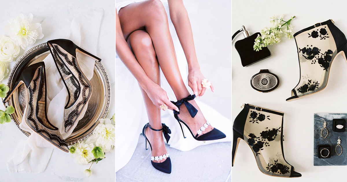065e8346571 Fashion-Forward Black Wedding Shoes! 7 Stunning Black Evening Shoes For  Your Special Occasion!