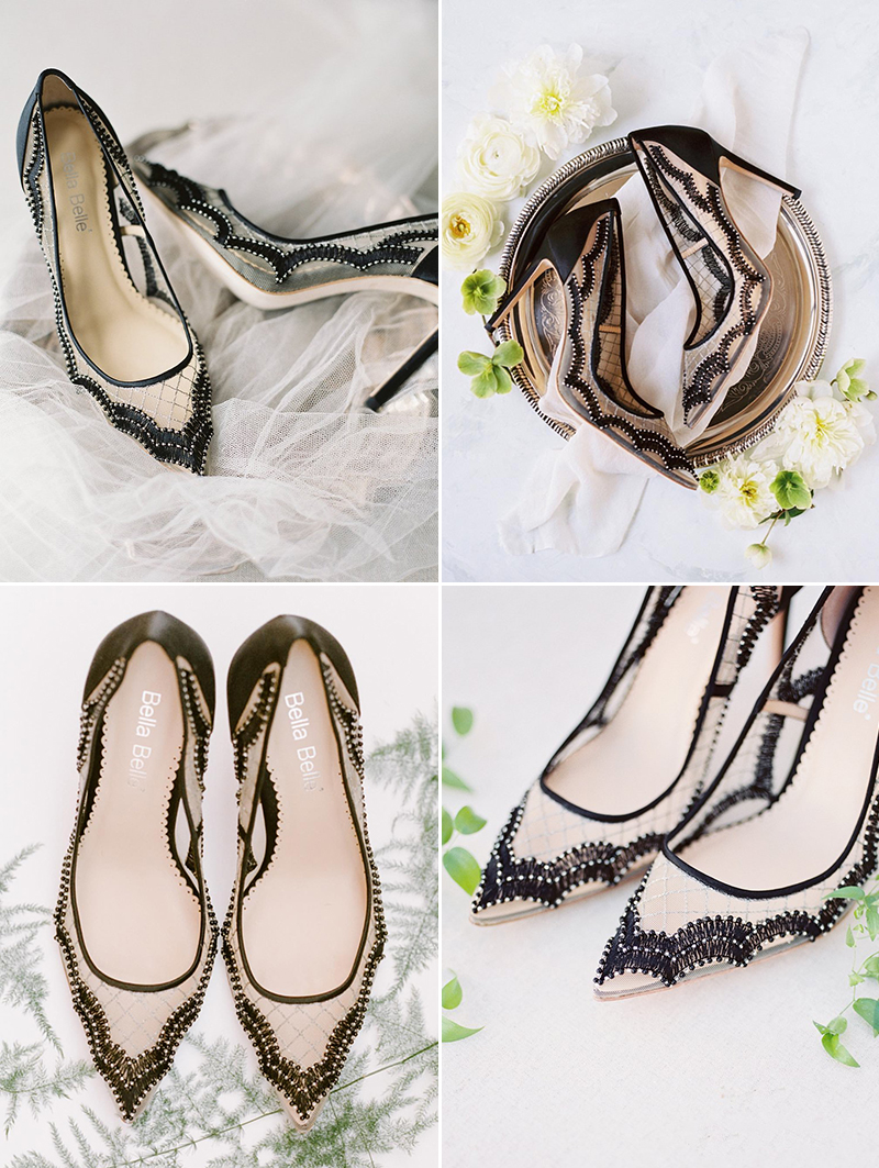 c80cca3ff0d Fashion-Forward Black Wedding Shoes! 7 Stunning Black Evening Shoes ...