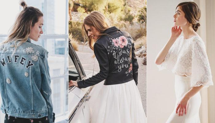 18 Modern Stylish Wedding Cover-Ups and Jackets For Fashion-Forward Brides!