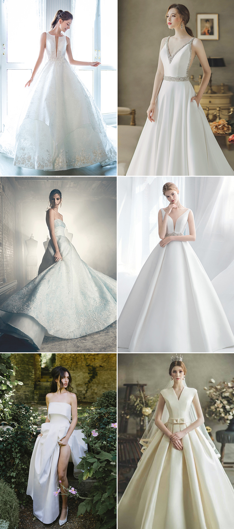 Modern Structured Wedding Dress Ball Gowns