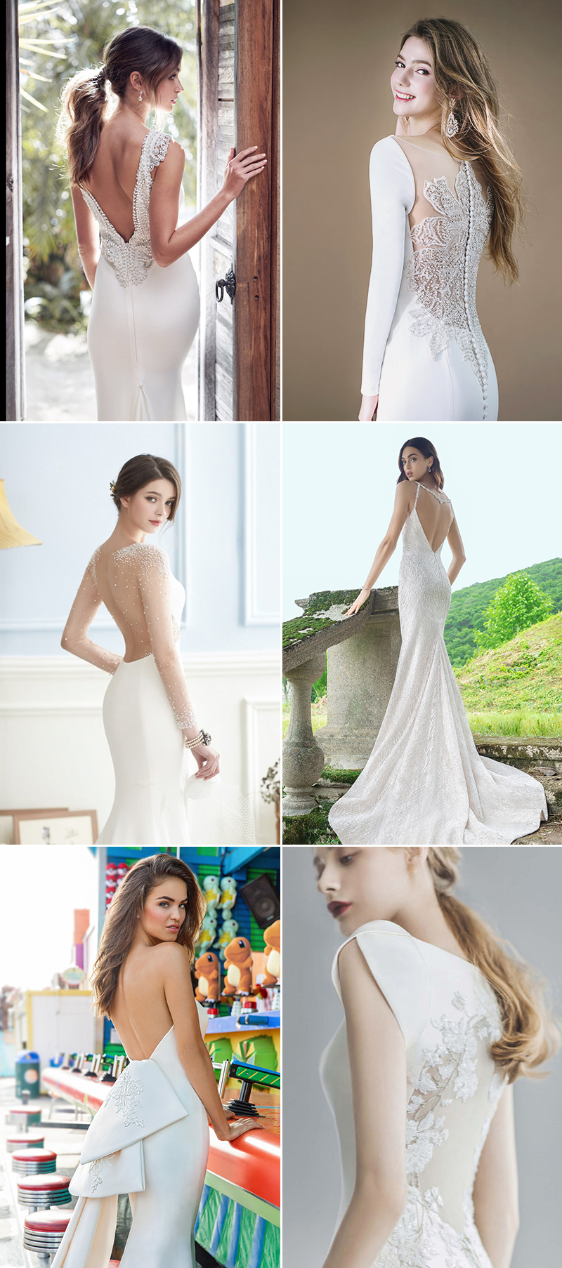 Wedding Dresses with Chic Back Detailing