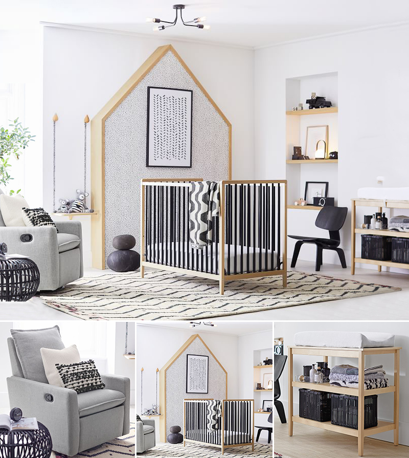Modern Earthy Black Neutral Nursery Room Ideas