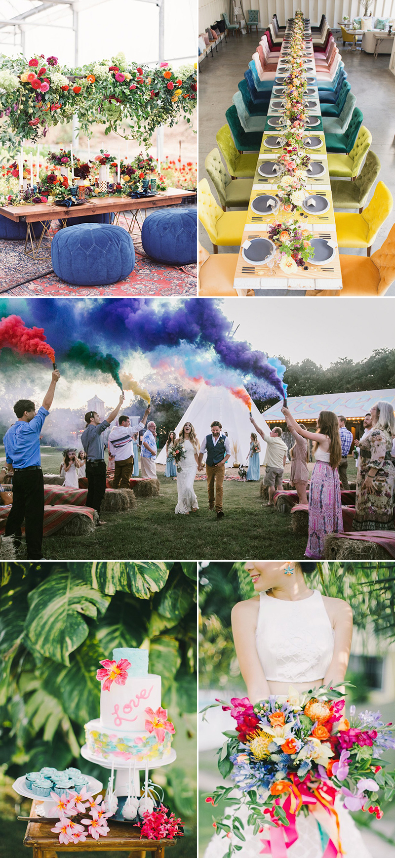 wedding bold colors