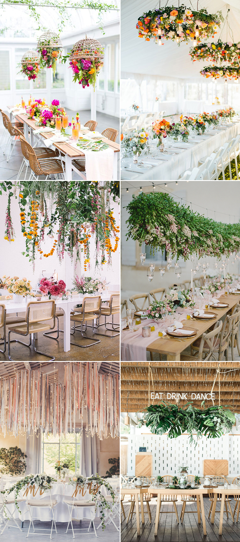 hanging elevated centerpiece