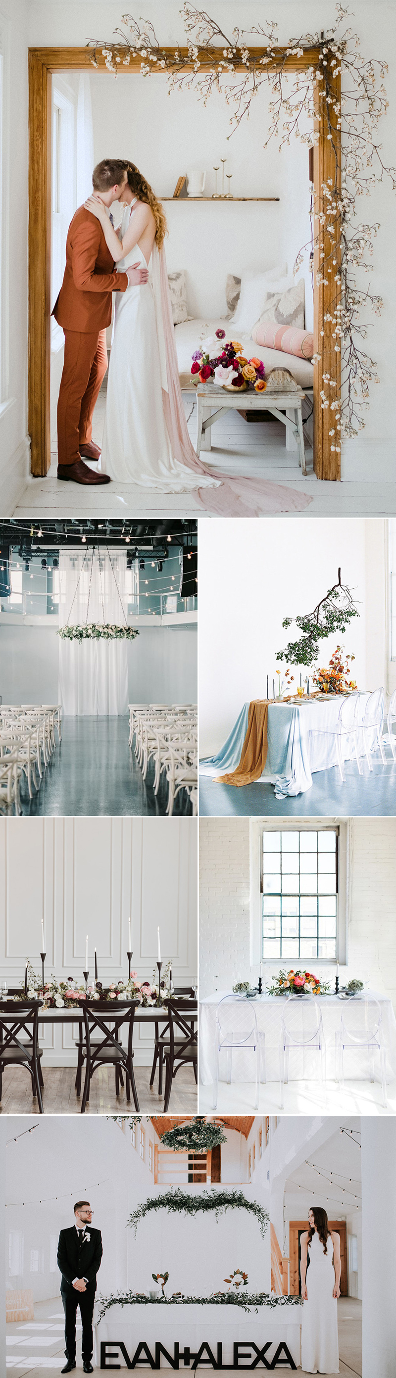 minimalist wedding theme