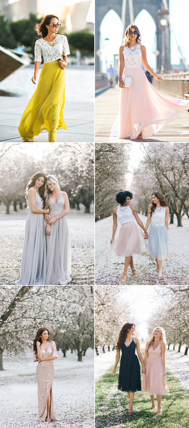 fashion bridesmaid dresses