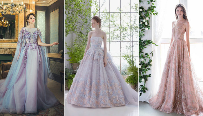 The Incredible Colors In Between! 17 Wedding Dresses Featuring New Dreamy Shades!