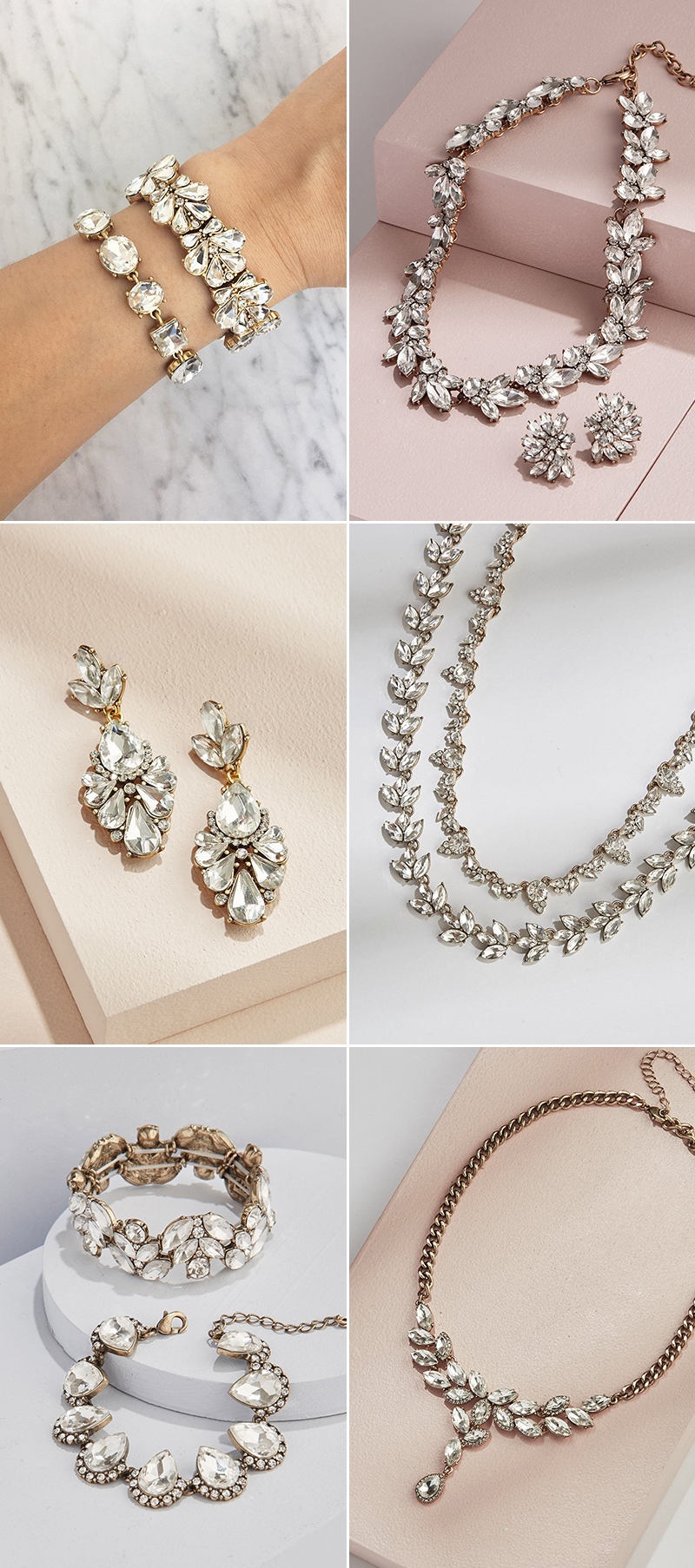 statement wedding jewelry
