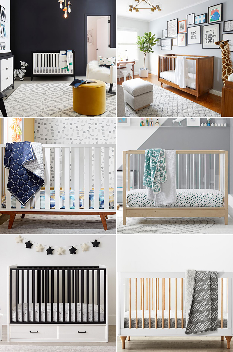 two color crib