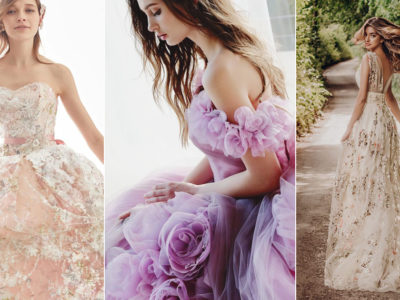 28 Ultra Romantic Floral Wedding Dresses Perfect for Spring Brides
