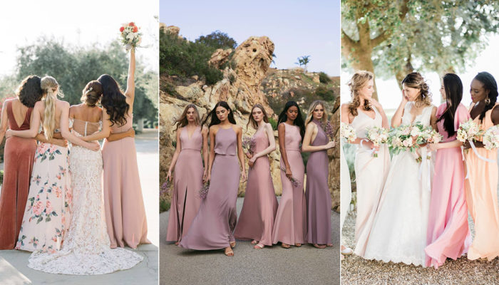 Top 5 Bridesmaid Dress Color Combinations for Spring and Summer Weddings Featuring Unique Mismatched Looks!