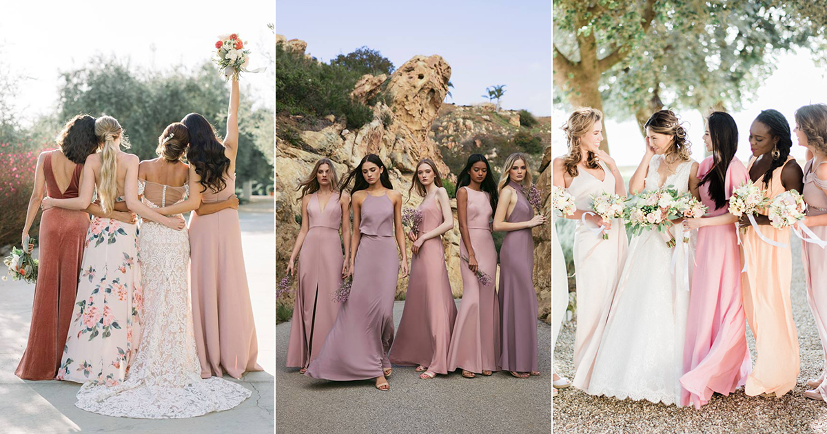 63ac278acf Top 5 Bridesmaid Dress Color Combinations for Spring and Summer Weddings  Featuring Unique Mismatched Looks!