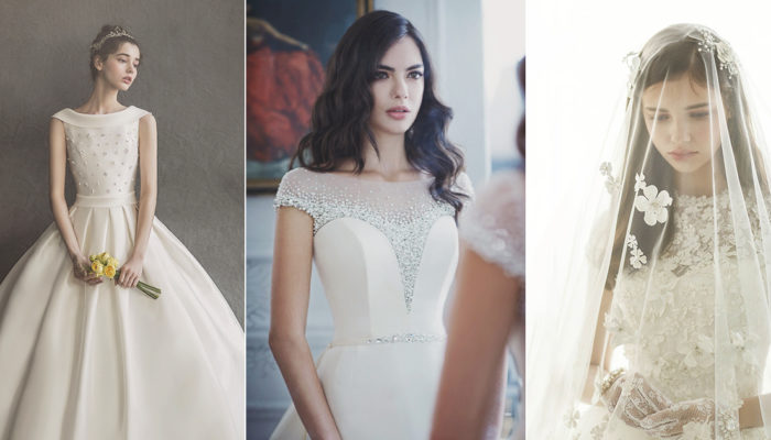 Minimalist Glam! 26 Simple But Not Plain Wedding Dresses Featuring Embellished Bodice!
