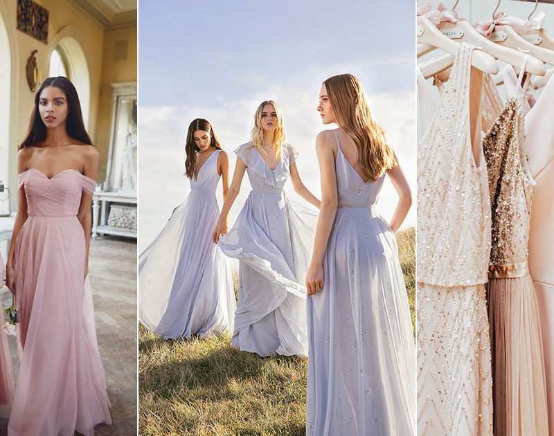 A New Take on Pastel! 24 Modern Pastel Bridesmaid Dresses for Spring and Summer Weddings