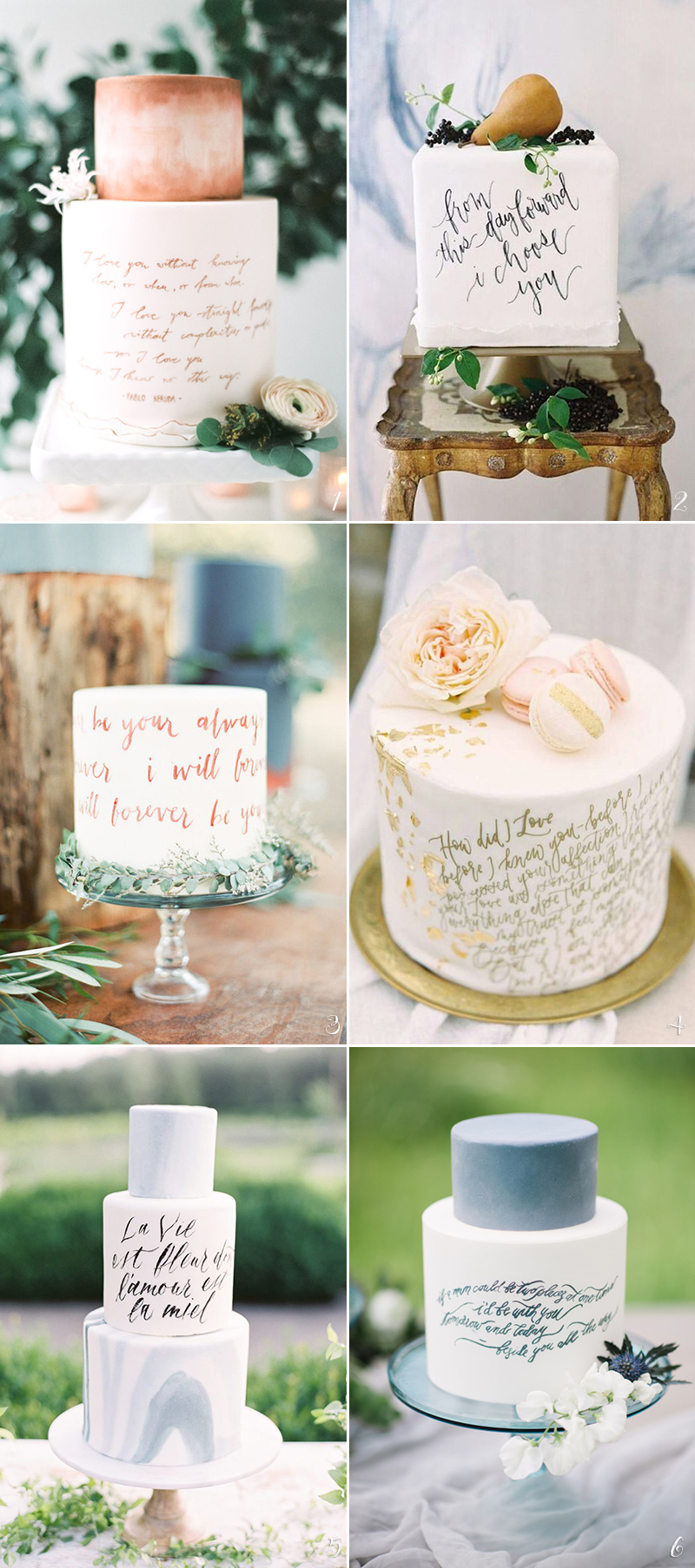 calligraphy wedding cake