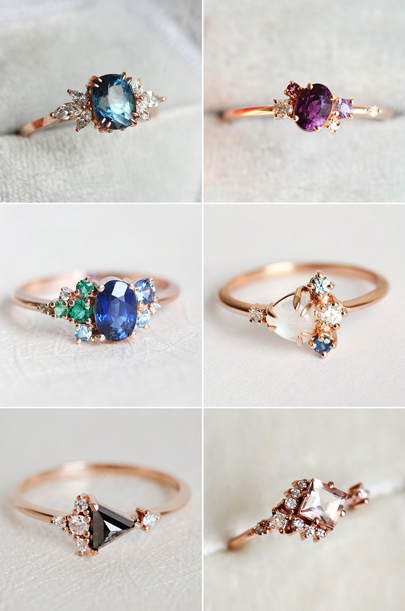 Engagement ring trends gemstone