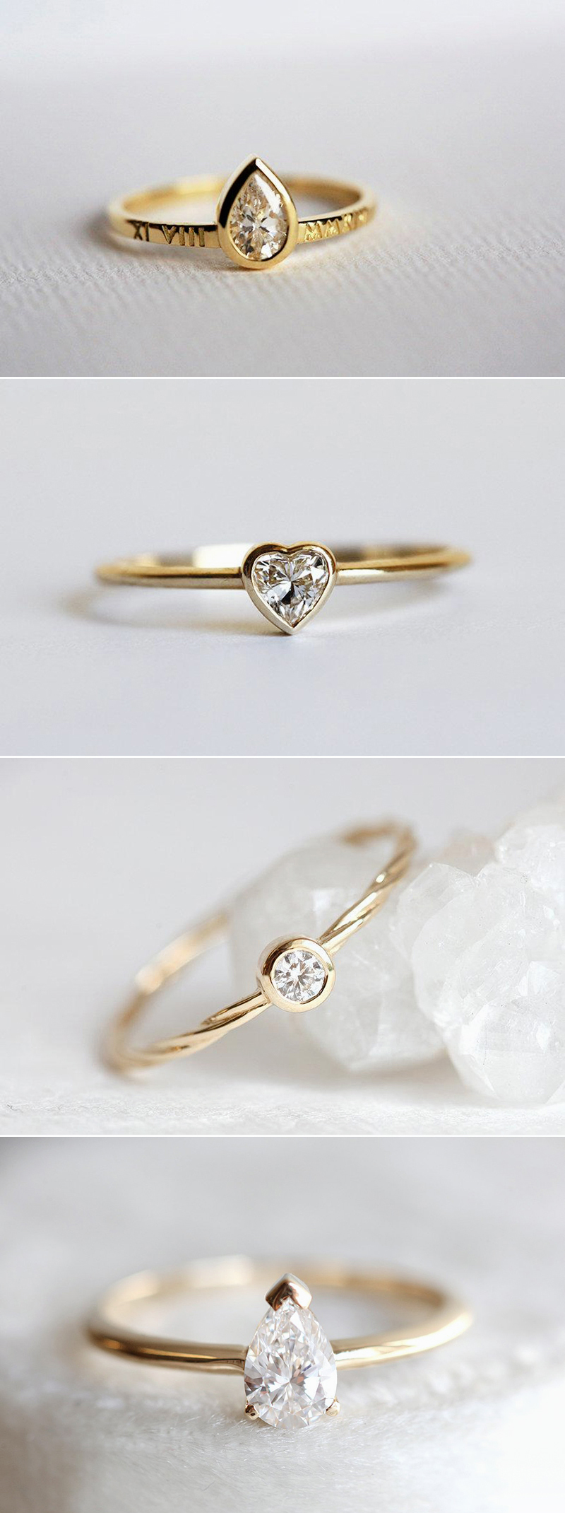 Engagement ring trends Yellow Gold Minimalist Solitaire