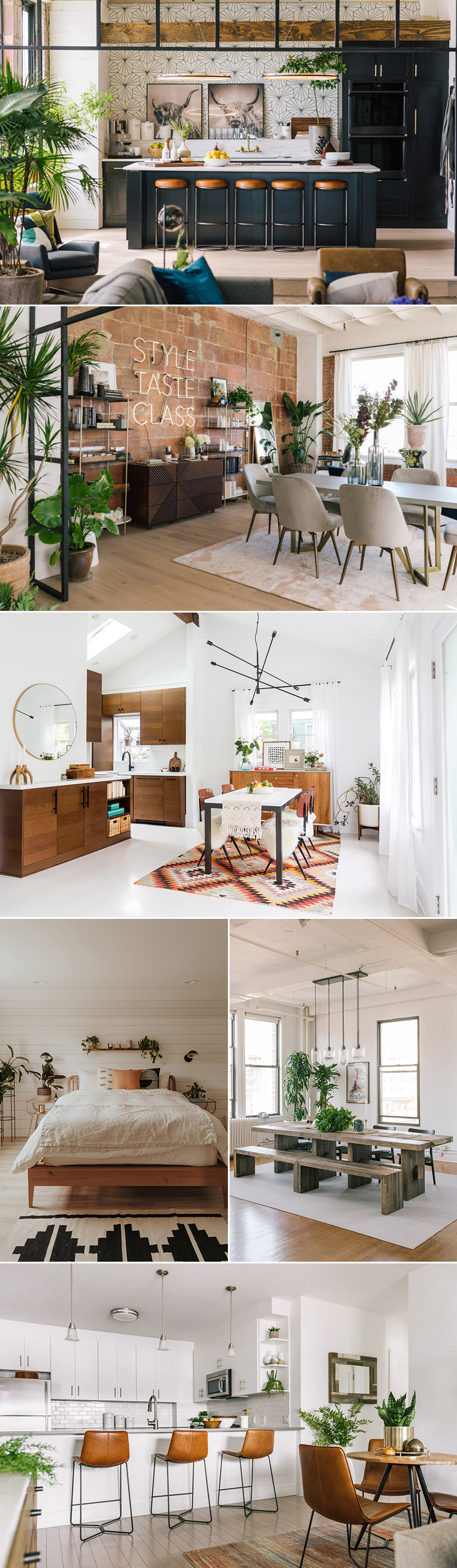 home decor interior design trends 2019 - boho industrial