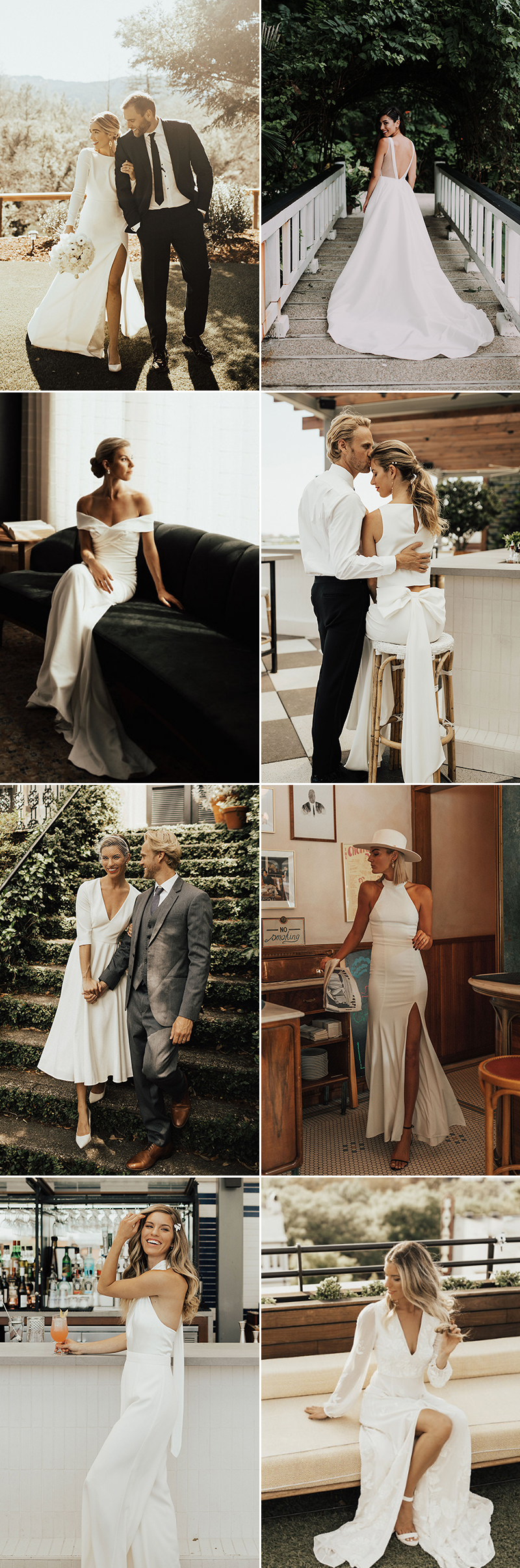 wedding dress styles from real brides - sleek minimal