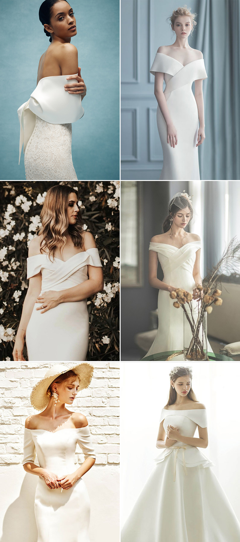 wedding dress styles from real brides - off-the-shoulder