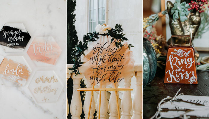 30 Beautiful Wedding Calligraphy Details We Love! Creative Items to Hand-Letter for Your Wedding