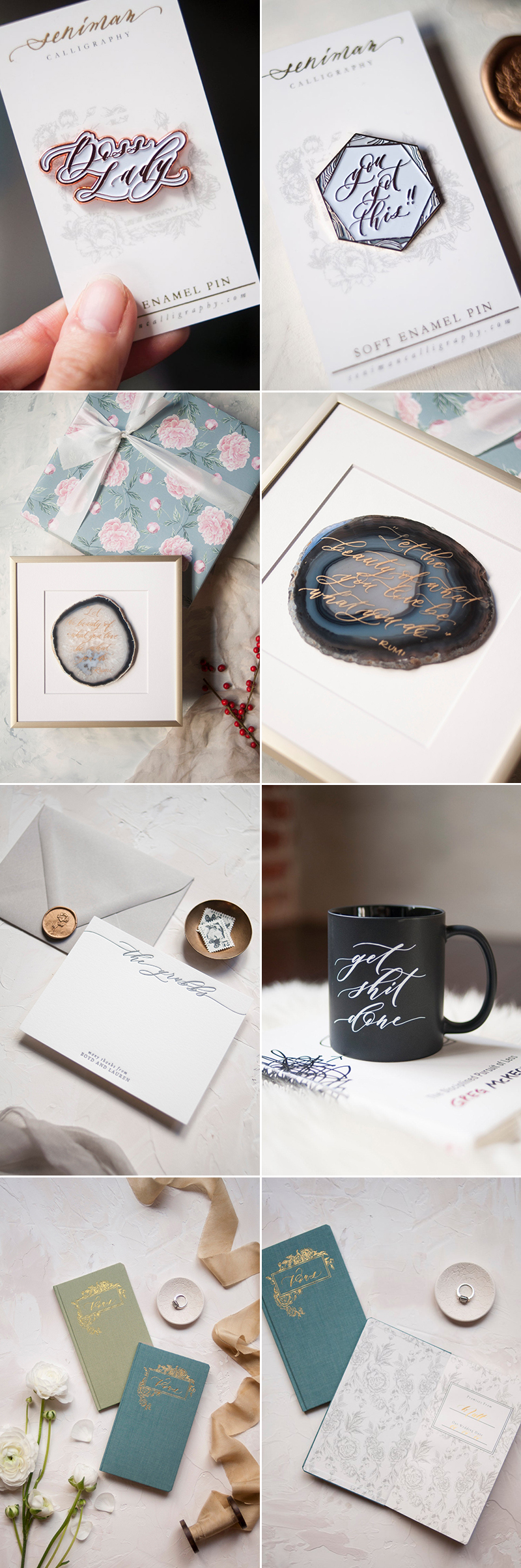 wedding calligraphy favor