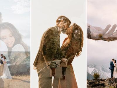 23 Storytelling Double Exposure Wedding Photos