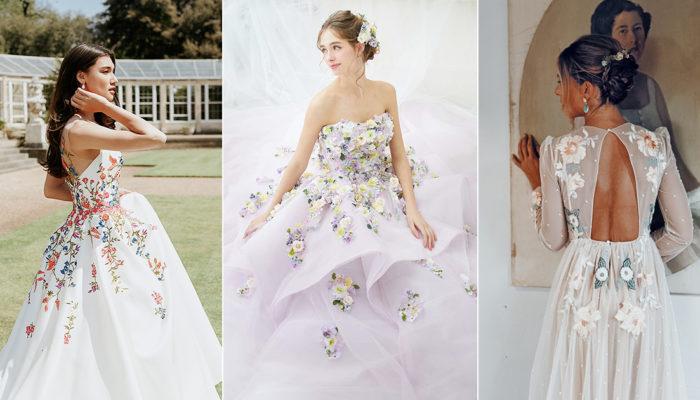 20 Extraordinary Floral Wedding Dresses Millennial Brides Will Love