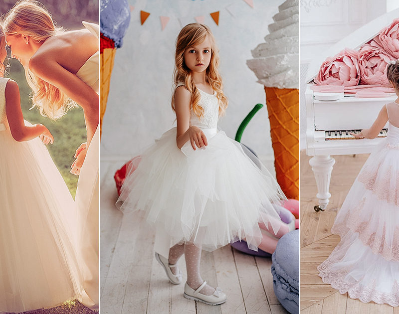803788549 The Mini Wedding Dress! 16 Flower Girl Dresses to Match Your Bridal Look