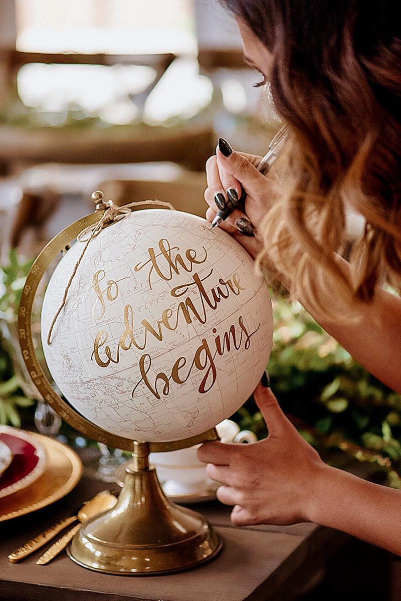 Custom Calligraphy Globe