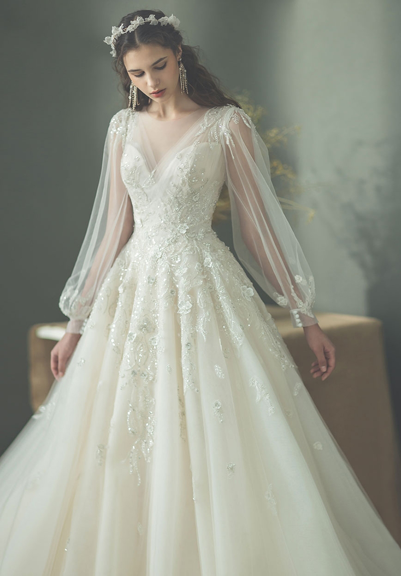 Modest fashion wedding dress