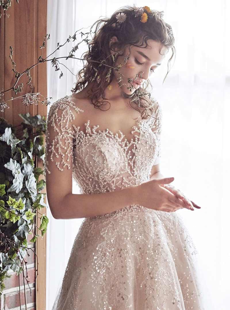 Romantic Fashion-Forward Wedding Dress