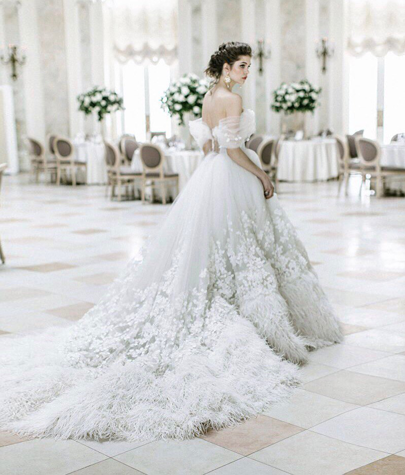 colored wedding dress