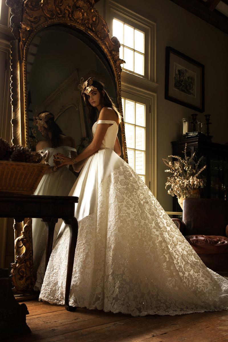 whimsical glam romantic wedding dress