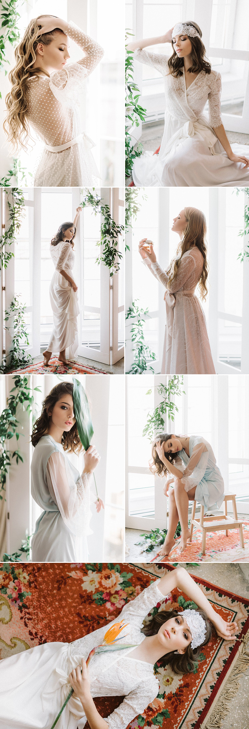 Wedding bridal getting ready boudoir robe