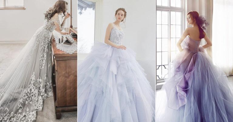 colored wedding dress