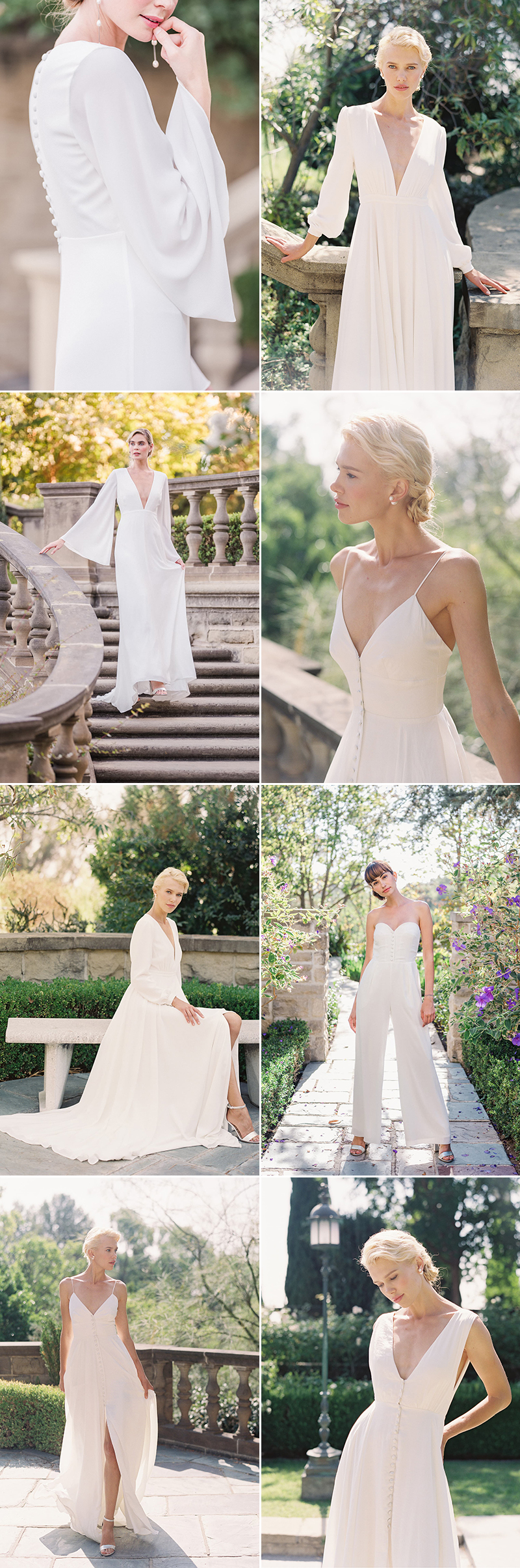 modern minimalist wedding dress