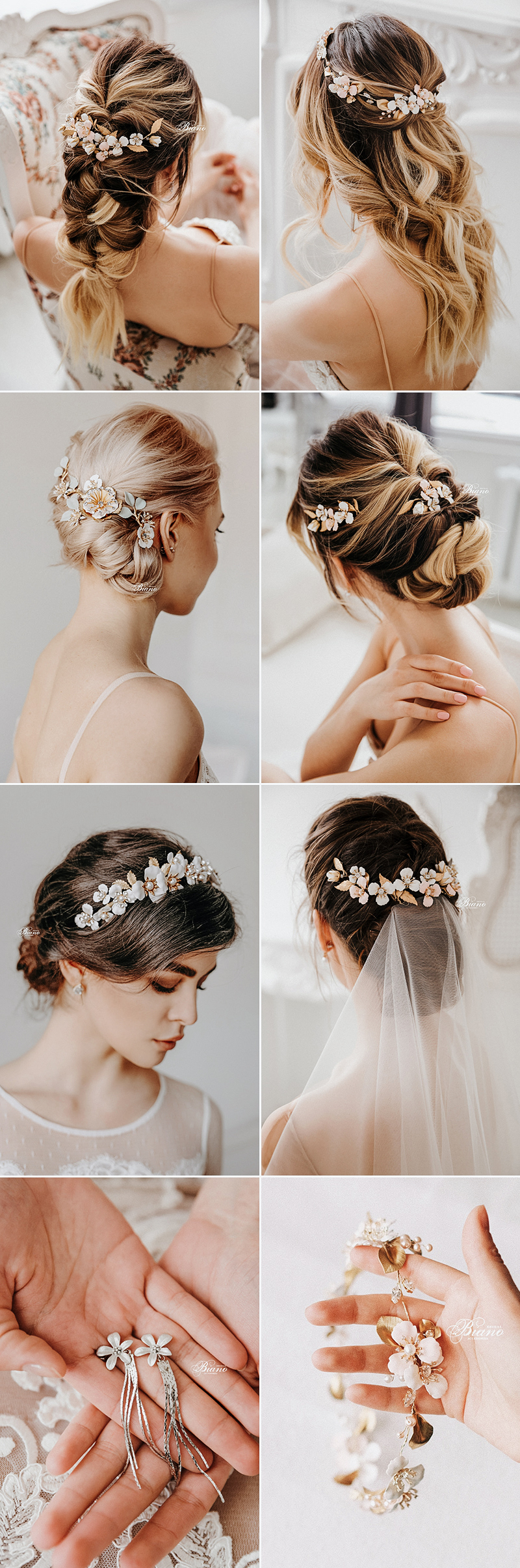 Handmade bridal accessories