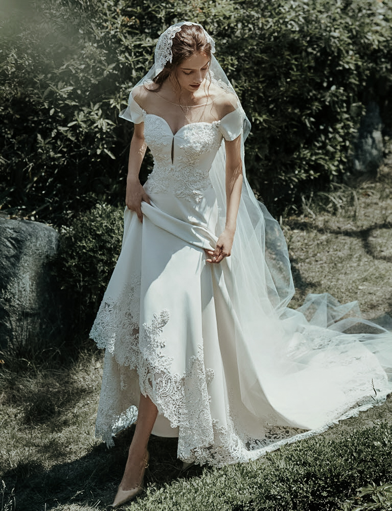 romantic enchanted vintage wedding dress