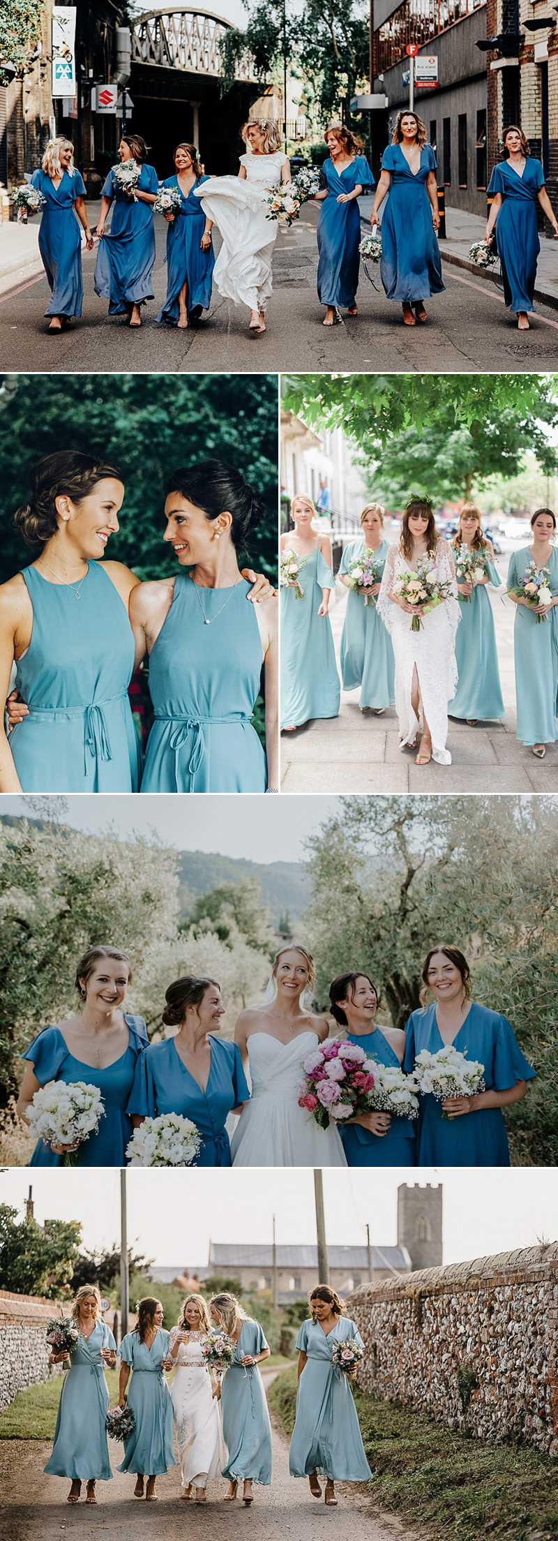 Modern bridesmaid dress