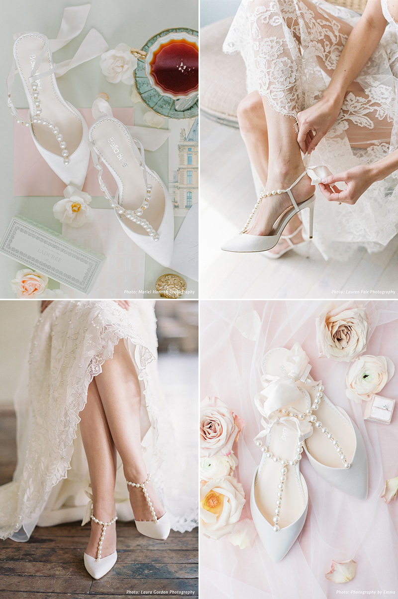 classic wedding bridal shoes