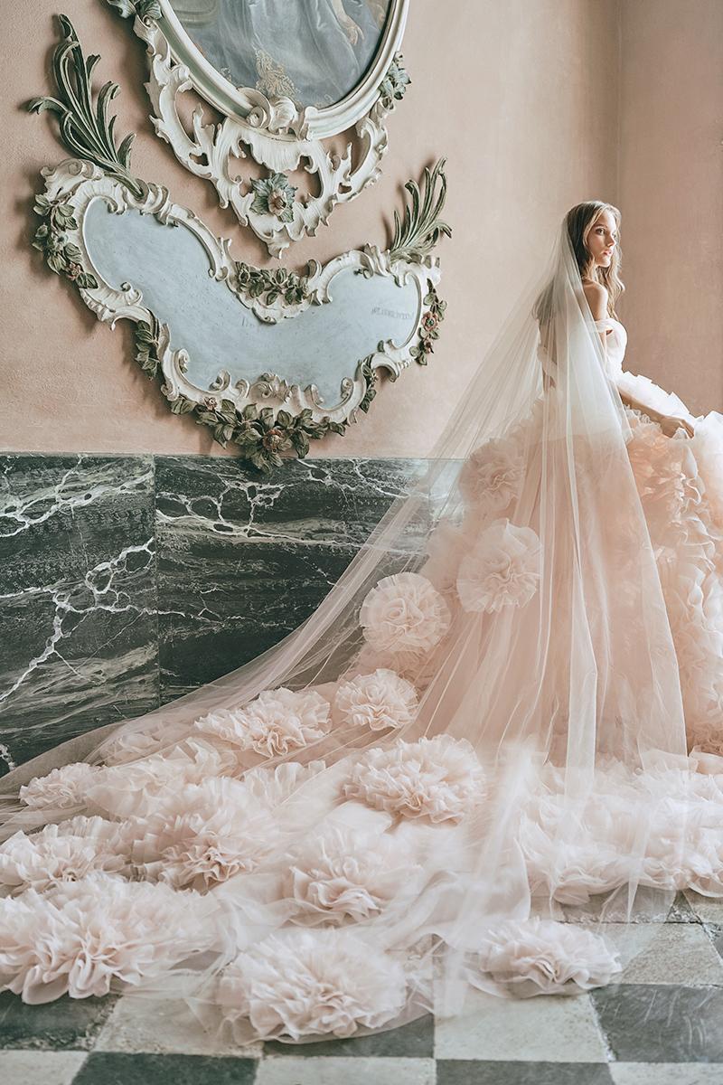 vintage inspired colored wedding dresses