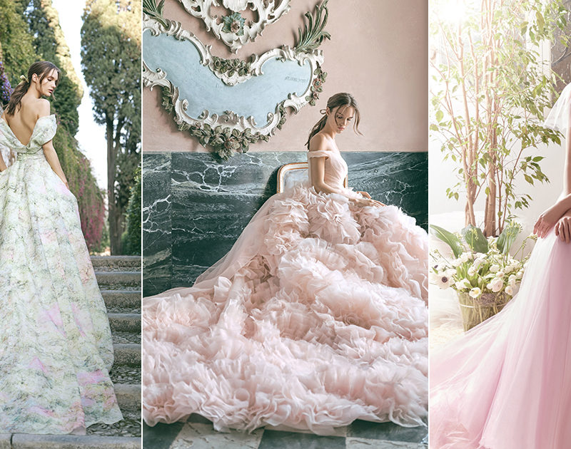 17 Vintage-Inspired Colored Wedding Dresses For the Romantic Retro Bride