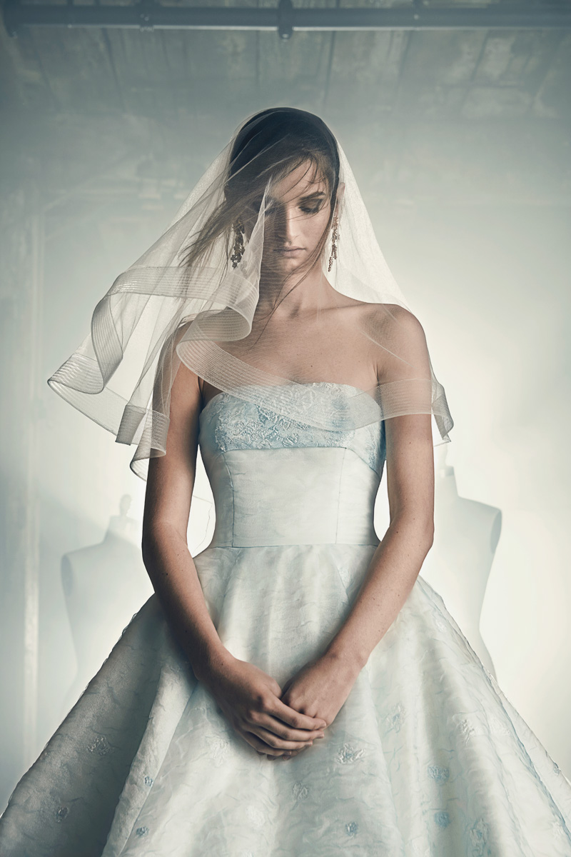 colored minimalist simple wedding dresses