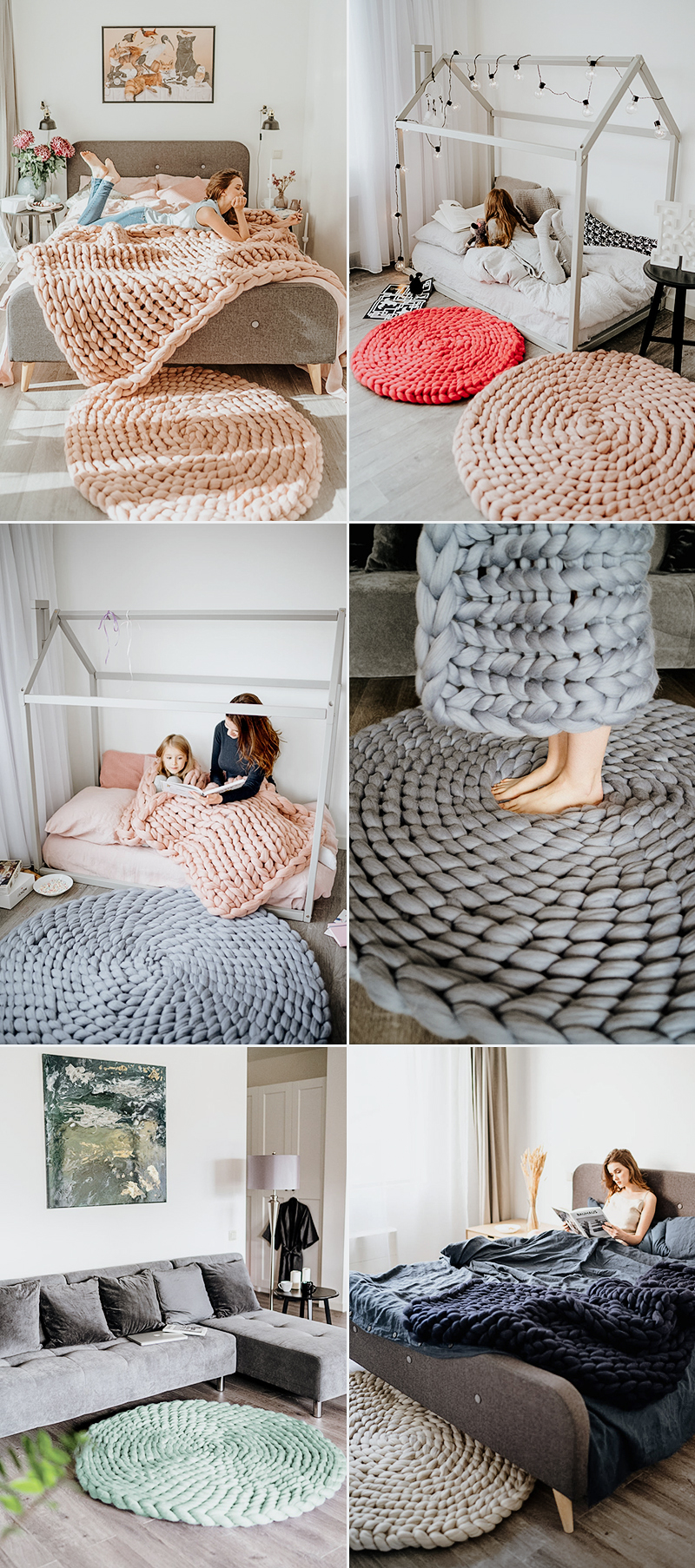 Chunky Knit Rugs