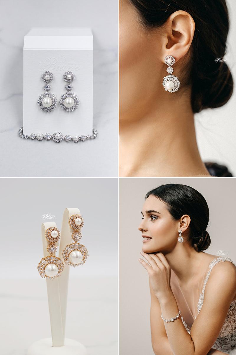 Zoe Pearl Bridal Earrings