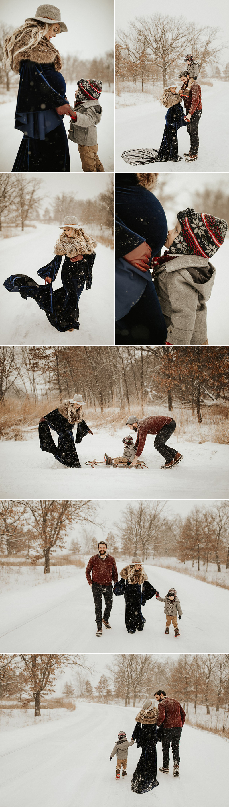 winter maternity photography
