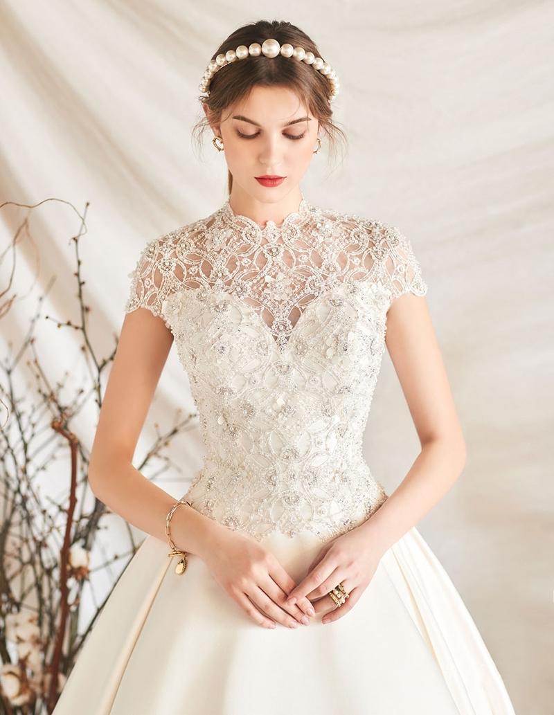 classic feminine wedding dress