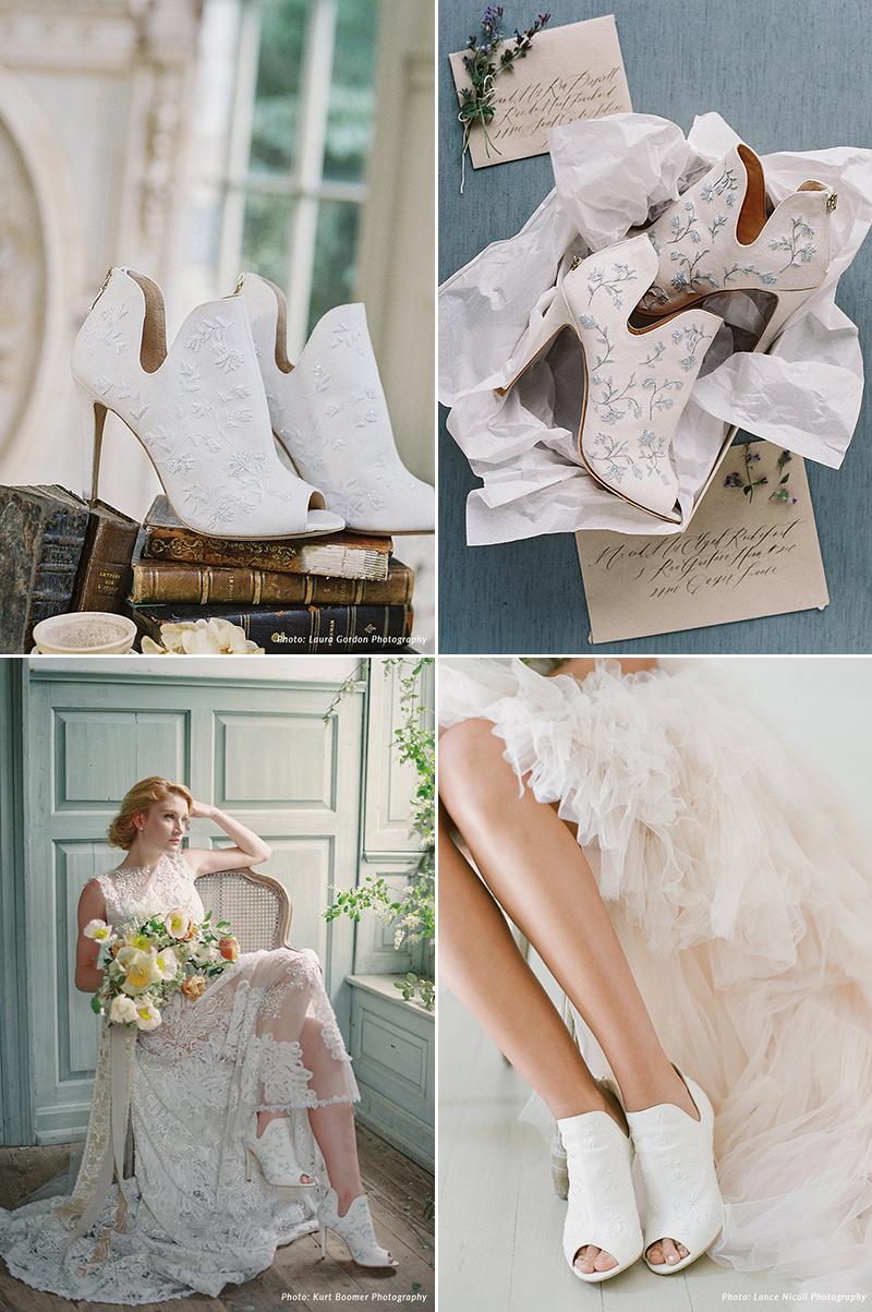 garden-inspired floral wedding shoes