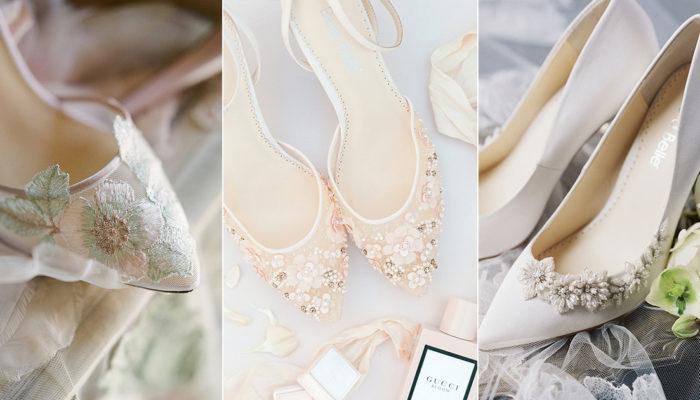 12 Romantic Flower-Inspired Wedding Shoes For Your Secret Garden Wedding